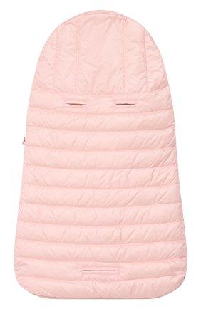 Детский пуховый конверт MONCLER розового цвета, арт. F1-951-1G701-00-C0401 | Фото 2