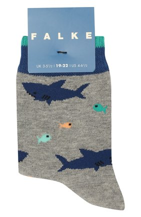 Детские носки FALKE серого цвета, арт. 12278 | Фото 1