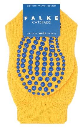 Детские носки из хлопка и шерсти FALKE желтого цвета, арт. 10500 | Фото 1