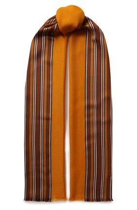 Женская шаль из смеси шелка и кашемира LORO PIANA желтого цвета, арт. FAI2568 | Фото 1