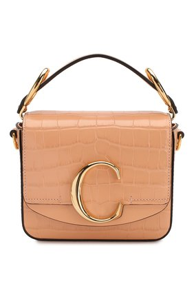 Женская сумка chloé c mini CHLOÉ светло-розового цвета, арт. CHC19US193A87   Фото 1