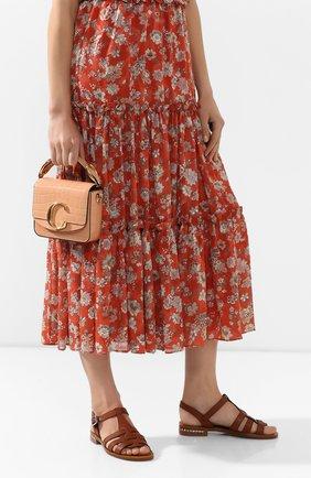 Женская сумка chloé c mini CHLOÉ светло-розового цвета, арт. CHC19US193A87   Фото 2