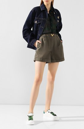 Женские кожаные кеды portofino light DOLCE & GABBANA белого цвета, арт. CK1602/AW017 | Фото 2