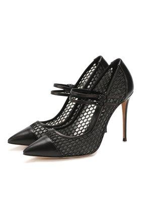 Женская комбинированные туфли CASADEI черного цвета, арт. 1H761P1001C06229000 | Фото 1