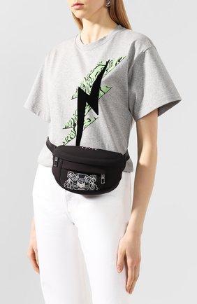 Женская поясная сумка tiger KENZO черного цвета, арт. FA55SF307F22 | Фото 2