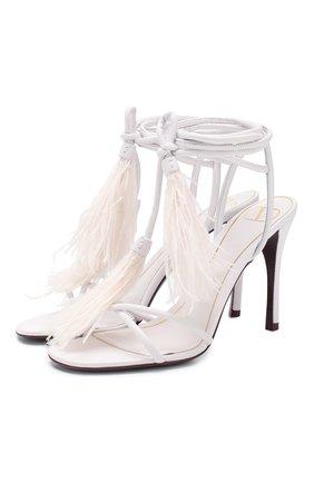 Женские кожаные босоножки valentino garavani rockstud flair VALENTINO белого цвета, арт. TW0S0X92/MHW | Фото 1