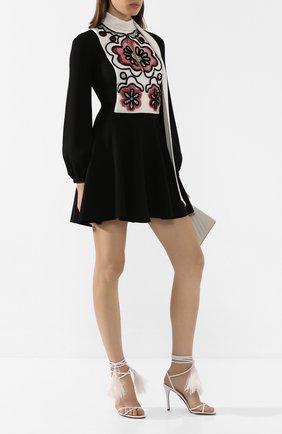 Женские кожаные босоножки valentino garavani rockstud flair VALENTINO белого цвета, арт. TW0S0X92/MHW | Фото 2