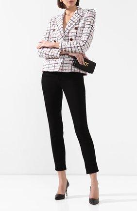 Женская кожаные туфли barocco VERSACE черного цвета, арт. DST037M/DVT41 | Фото 2