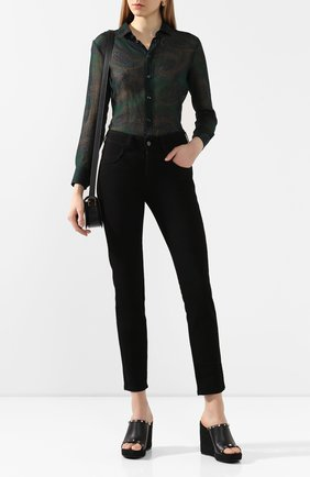 Женские кожаные мюли valentino garavani rockstud torchon VALENTINO черного цвета, арт. TW2S0V49/BAE   Фото 2