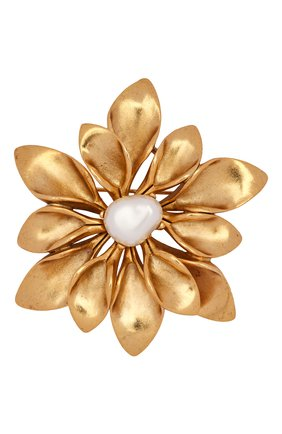 брошь OSCAR DE LA RENTA золотого цвета, арт. S20J306G0L | Фото 1