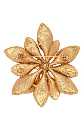 брошь OSCAR DE LA RENTA золотого цвета, арт. S20J306G0L | Фото 2