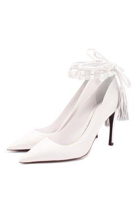 Женская кожаные туфли valentino garavani rockstud flair VALENTINO белого цвета, арт. TW0S0X79/SQE | Фото 1