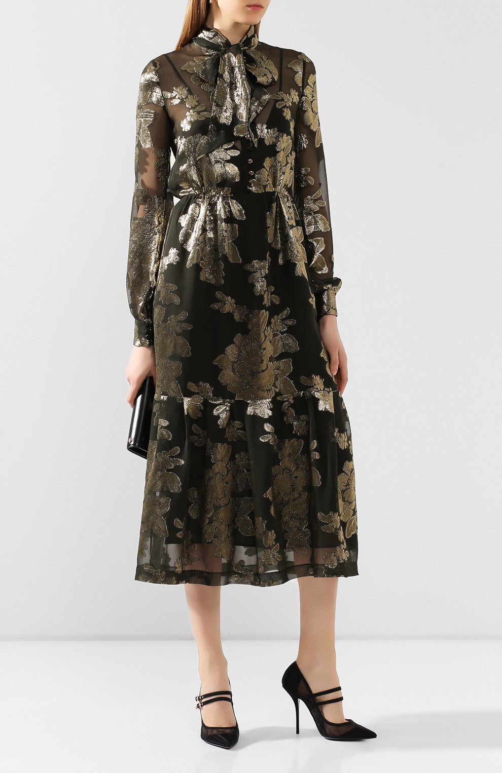 Женские текстильные туфли cardinale DOLCE & GABBANA черного цвета, арт. CD1516/AX975 | Фото 2