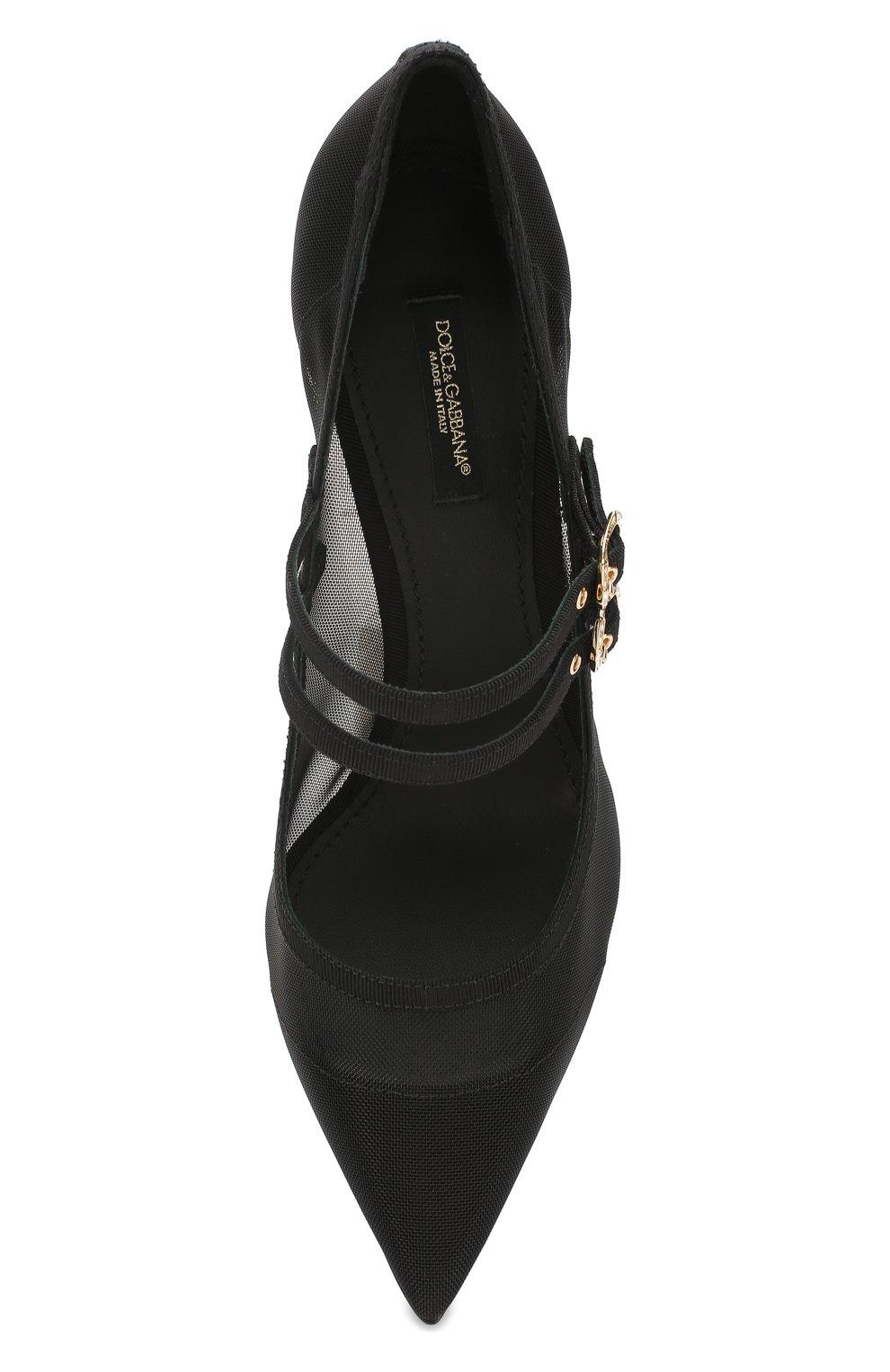 Женские текстильные туфли cardinale DOLCE & GABBANA черного цвета, арт. CD1516/AX975 | Фото 5