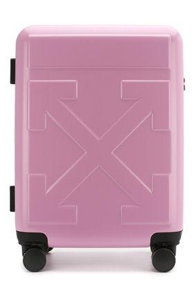 Женский дорожный чемодан arrow OFF-WHITE розового цвета, арт. 0WNG001R20F610672727 | Фото 1