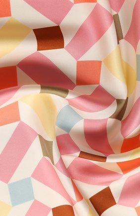 Женский шелковый платок zellige LORO PIANA розового цвета, арт. FAL1439 | Фото 2