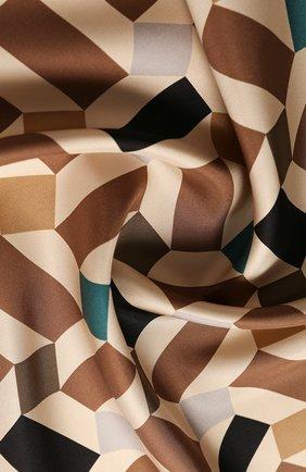 Женский шелковый платок zellige LORO PIANA коричневого цвета, арт. FAL1439 | Фото 2