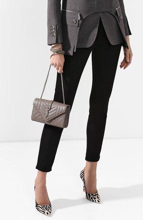 Женская сумка classic small SAINT LAURENT бежевого цвета, арт. 600195/B0W96 | Фото 2