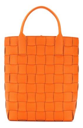 Женская сумка maxi cabat 30 BOTTEGA VENETA оранжевого цвета, арт. 606005/VMAY3 | Фото 1