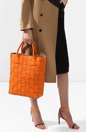 Женская сумка maxi cabat 30 BOTTEGA VENETA оранжевого цвета, арт. 606005/VMAY3 | Фото 2
