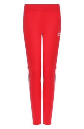 Женские леггинсы ADIDAS ORIGINALS красного цвета, арт. FM3283 | Фото 1