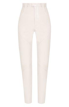 Женские кожаные брюки ISABEL MARANT кремвого цвета, арт. PA1555-20P003I/XENIA | Фото 1
