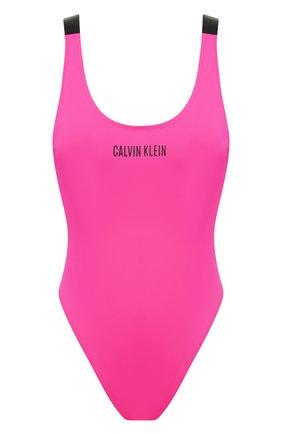 Женский слитный купальник CALVIN KLEIN малинового цвета, арт. KW0KW00980 | Фото 1