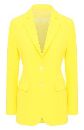 Женский жакет ERMANNO ERMANNO SCERVINO желтого цвета, арт. 46T CP30 GIS   Фото 1