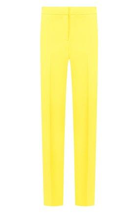 Женские брюки ERMANNO ERMANNO SCERVINO желтого цвета, арт. 46T PL07 GIS   Фото 1