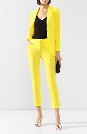Женские брюки ERMANNO ERMANNO SCERVINO желтого цвета, арт. 46T PL07 GIS   Фото 2