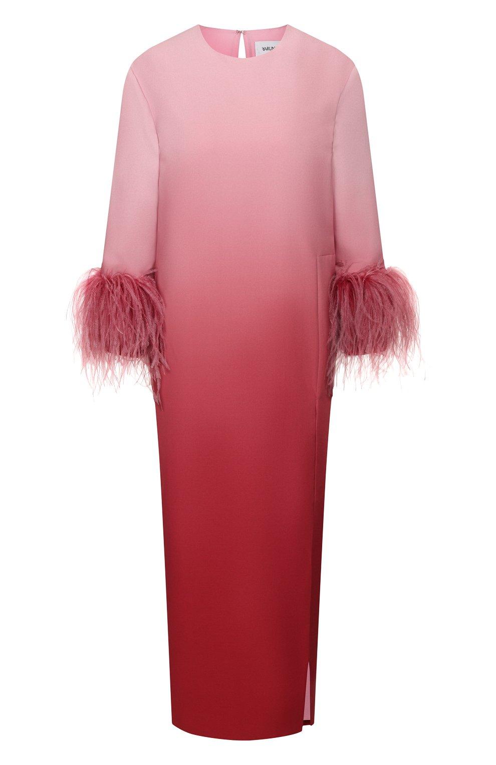 Женское платье-миди 16 ARLINGTON розового цвета, арт. D-021-S20-PNK/RED-0MBRE 0MBRE CREPE | Фото 1
