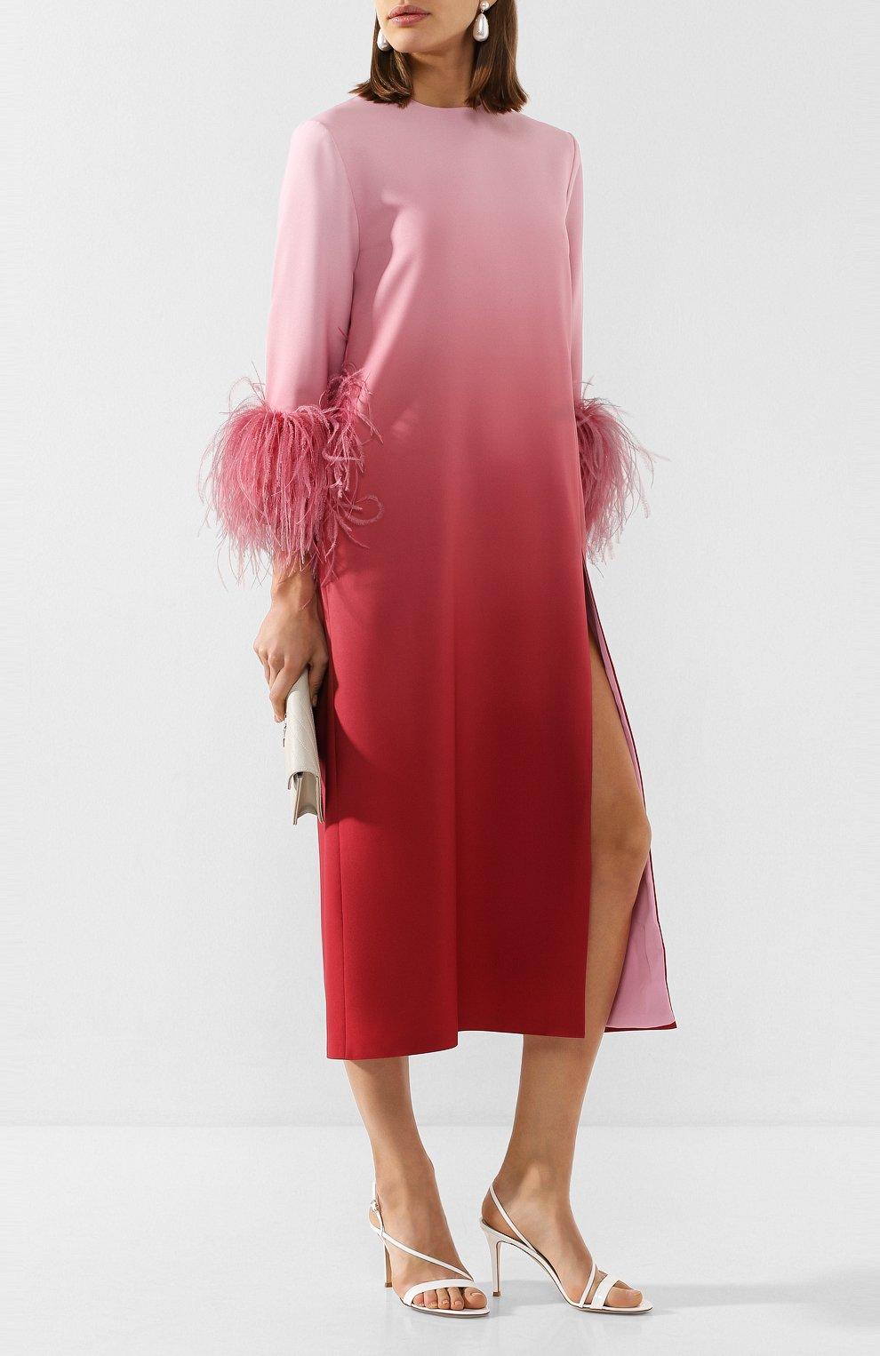 Женское платье-миди 16 ARLINGTON розового цвета, арт. D-021-S20-PNK/RED-0MBRE 0MBRE CREPE | Фото 2