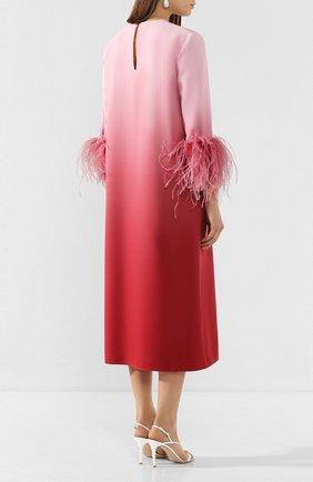 Женское платье-миди 16 ARLINGTON розового цвета, арт. D-021-S20-PNK/RED-0MBRE 0MBRE CREPE | Фото 4