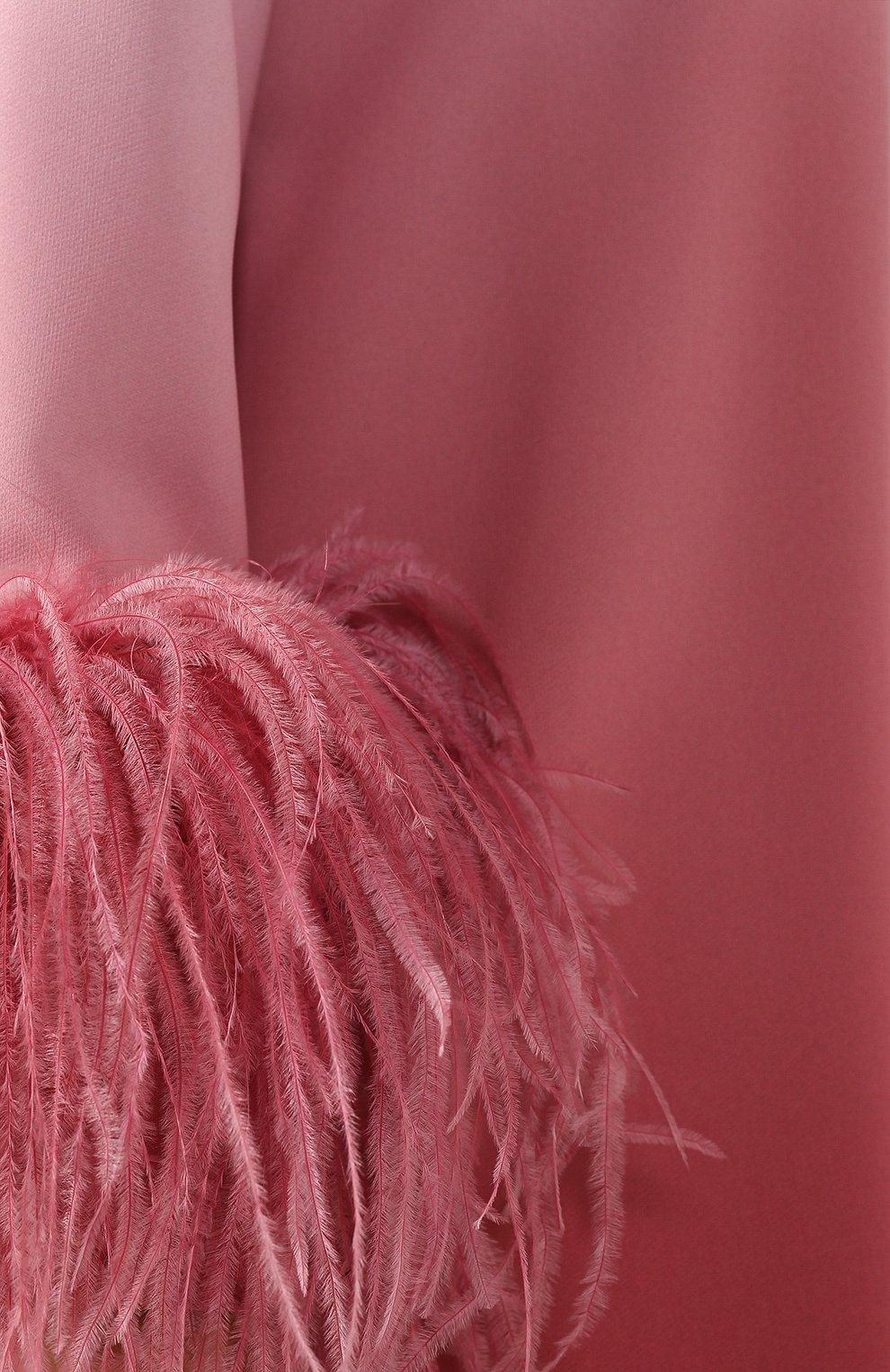 Женское платье-миди 16 ARLINGTON розового цвета, арт. D-021-S20-PNK/RED-0MBRE 0MBRE CREPE | Фото 5