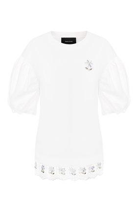 Женская хлопковая футболка SIMONE ROCHA белого цвета, арт. TS270-10B/0553   Фото 1