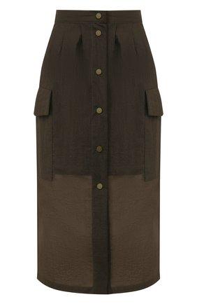 Женская юбка TELA темно-зеленого цвета, арт. 11 5219 01 9961   Фото 1