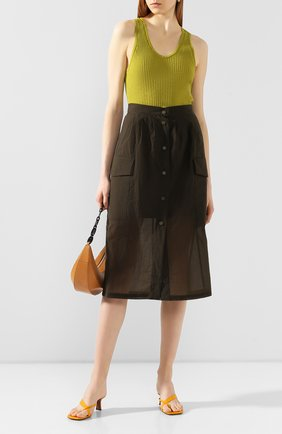 Женская юбка TELA темно-зеленого цвета, арт. 11 5219 01 9961   Фото 2