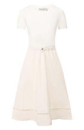 Женское платье MONCLER белого цвета, арт. F1-093-9I701-00-C9027 | Фото 1