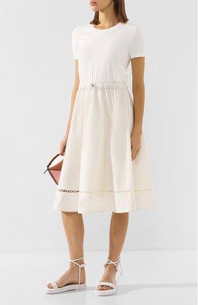 Женское платье MONCLER белого цвета, арт. F1-093-9I701-00-C9027 | Фото 2