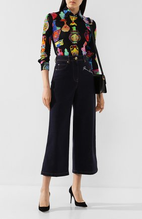 Женские джинсы VERSACE темно-синего цвета, арт. A85460/A232843 | Фото 2