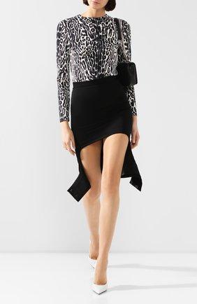 Женская шерстяная юбка BURBERRY черного цвета, арт. 4564000 | Фото 2