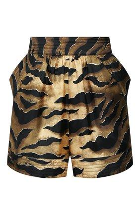 Женские шелковые шорты DSQUARED2 коричневого цвета, арт. S72MU0360/S52758 | Фото 1