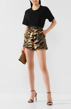 Женские шелковые шорты DSQUARED2 коричневого цвета, арт. S72MU0360/S52758 | Фото 2