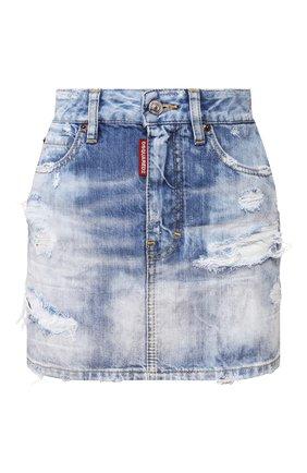 Женская джинсовая юбка DSQUARED2 синего цвета, арт. S72MA0789/S30309 | Фото 1