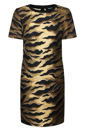 Женское шелковое платье DSQUARED2 коричневого цвета, арт. S72CV0124/S52758 | Фото 1