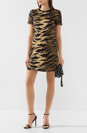 Женское шелковое платье DSQUARED2 коричневого цвета, арт. S72CV0124/S52758 | Фото 2