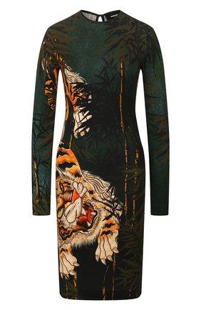 Женское платье из вискозы DSQUARED2 разноцветного цвета, арт. S72CV0103/S23666 | Фото 1