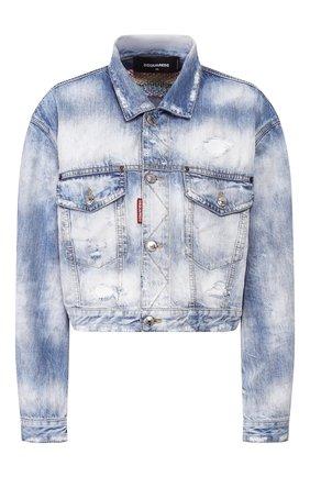 Женская джинсовая куртка DSQUARED2 синего цвета, арт. S72AM0847/S30309 | Фото 1