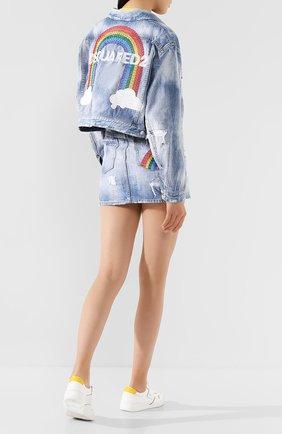 Женская джинсовая куртка DSQUARED2 синего цвета, арт. S72AM0847/S30309 | Фото 2