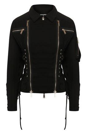 Женская куртка DSQUARED2 черного цвета, арт. S72AM0829/S52810 | Фото 1